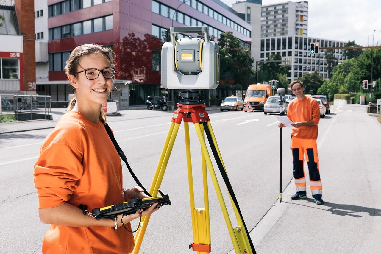 Lernende Geomatikerin und Geomatiker der Stadt Bern