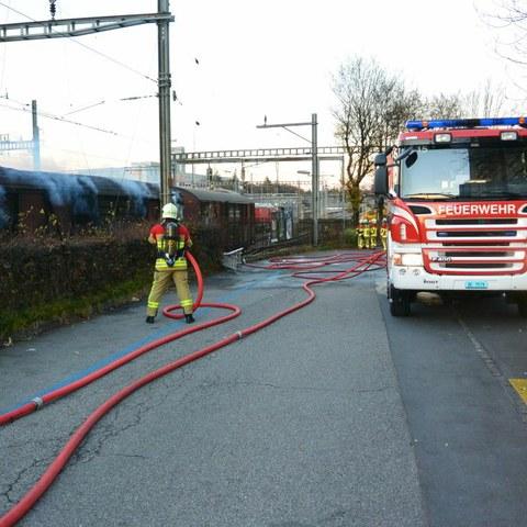 Bahnwaggonbrand