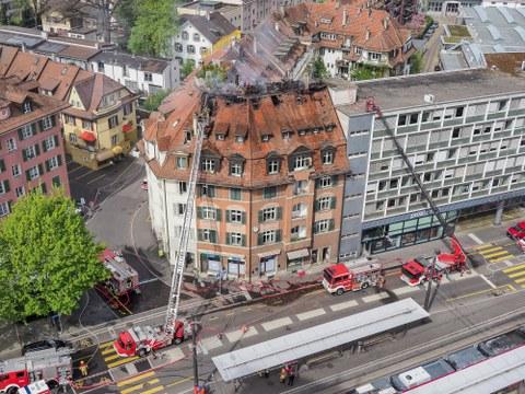 Dachstockbrand am Eigerplatz