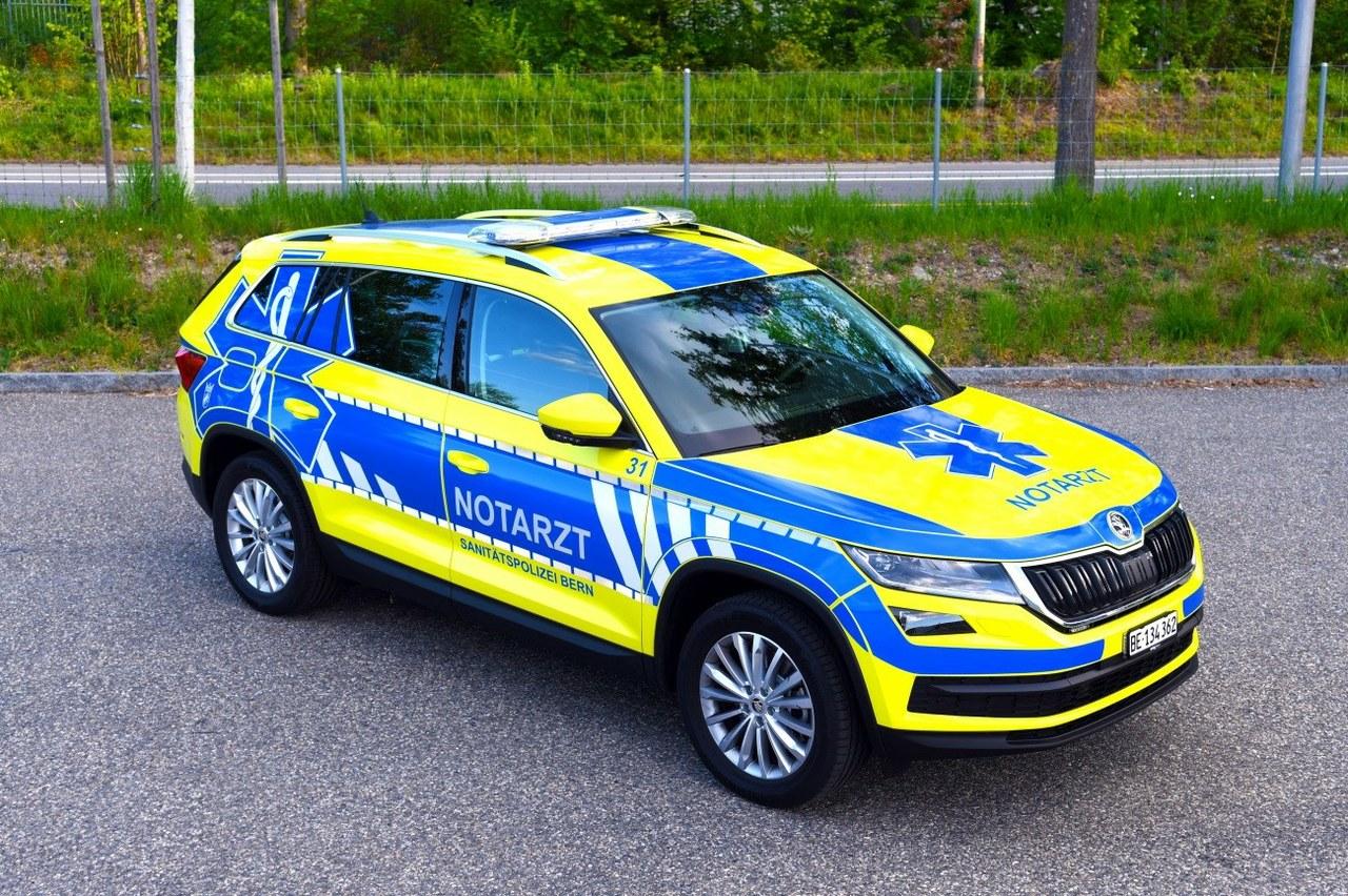 Einsatzfahrzeug Sanitätspolizei