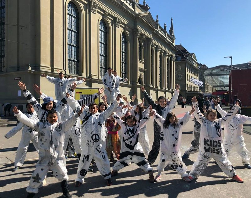 Bild HumanX Performance Kidswest Aktionswoche gegen Rassismus 2019.