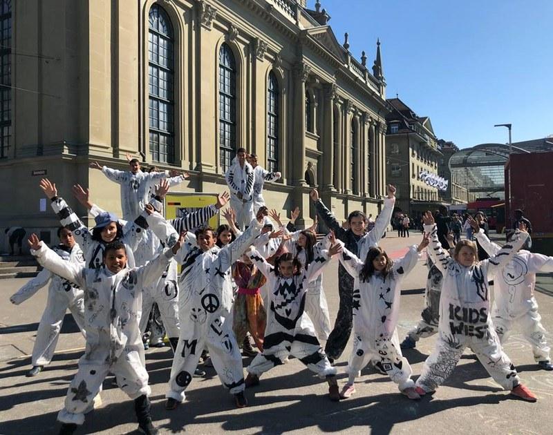 Bild HumanX Performance Kidswest Aktionswoche gegen Rassismus 2019.