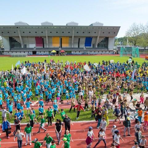 Kids Sports Day 2016 Eröffung (JPG, 3,8 MB). Vergrösserte Ansicht