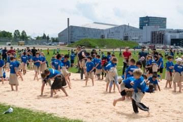 Kids Sports Day 2016 Schwingen (JPG, 4,6 MB). Vergrösserte Ansicht