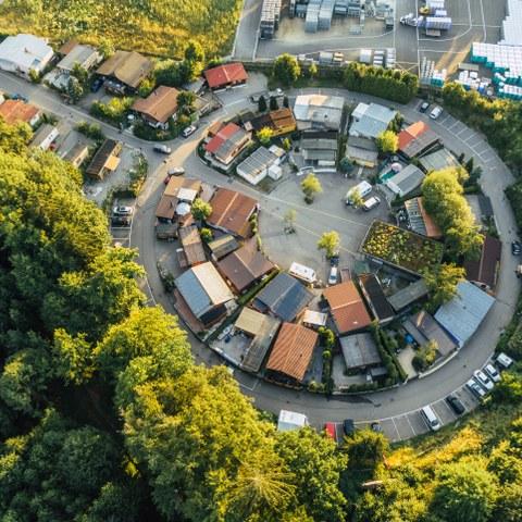 Luftaufnahme Standplatz Buech 1. Vergrösserte Ansicht