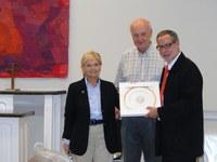 Bild 2: Gouverneurin von North Carolina Bev Perdue (links) und Alexander Tschäppät