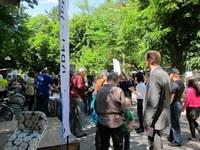 Umwelttag, Foto, Gemeinderat Reto Nause am Thunplatz