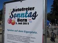 Plakat autofreier Sonntag