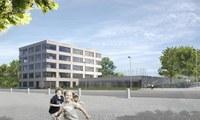 Visualisierung neues Schulhaus Brünnen