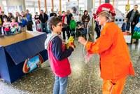Energiewende erleben: Clown Rosa, Bild: Thomas Hodel