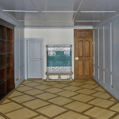 Kramgasse 39, Gassenzimmer erstes OG  Bild Dominique Uldry. Vergrösserte Ansicht