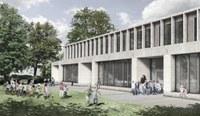 Visualisierung neues Gebäude Schulareal Stapfenacker, Bild: spaceshop Architekten GmbH