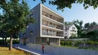 Visualisierung Erweiterungsbau Schule Pestalozzi - Aussenansicht