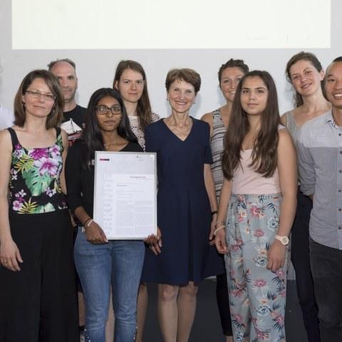 Gewinner Integrationspreis BC Femina Bild Sandra Blaser. Vergrösserte Ansicht