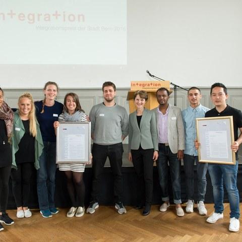 Integrationspreis 2016 Brunnadere Lade und wegeleben Bild Sandra Blaser. Vergrösserte Ansicht