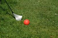 City Golf Bern Schläger und Ball im Rasen Bild Christian Flück, Liebefeld