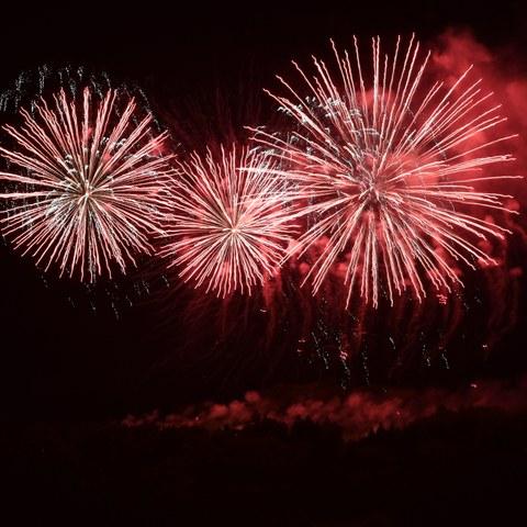 Feuerwerk 1 Bild Oliver Menge. Vergrösserte Ansicht