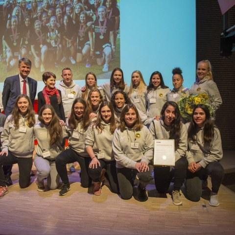 Bärnchampions 2017 BSC Young Boys Frauen, Nachwuchsteam. Vergrösserte Ansicht