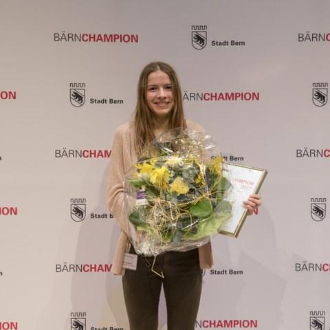 Bärnchampions 2017 Delia Sclabas, Nachwuchssportlerin. Vergrösserte Ansicht