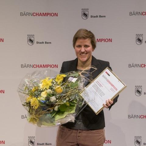 Bärnchampions 2017 Isabella Manzoni, Offene Kategorie Einzelsportlerin. Vergrösserte Ansicht