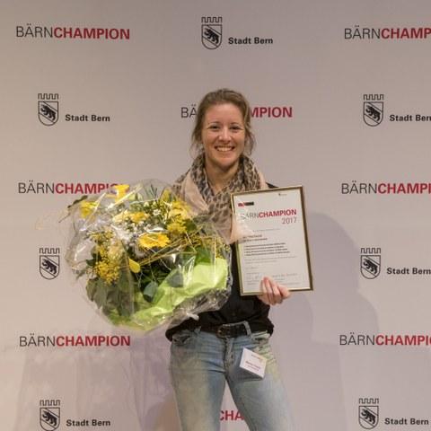 Bärnchampions 2017 Martina Tresch, Elite Einzelsportlerin. Vergrösserte Ansicht