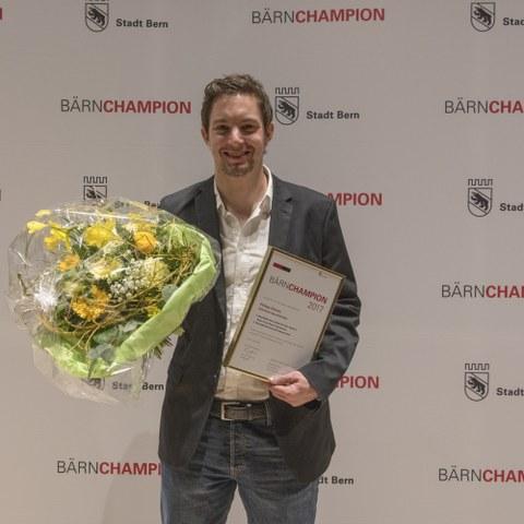 Bärnchampions 2017 Philipp  Steiner, Behindertensport. Vergrösserte Ansicht