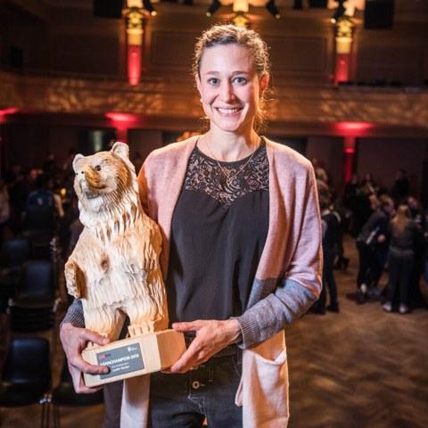 BaernChampion Gewinner Elite Einzelsportlerin Bild Sportamt Stadt Bern. Vergrösserte Ansicht