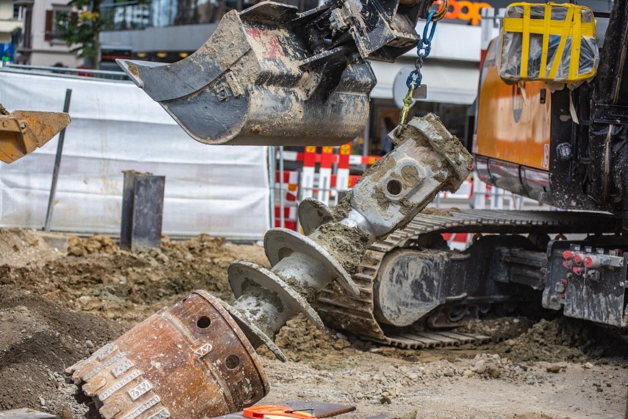 Bauarbeiten Dr nöi Breitsch September 2021 ©eggerx