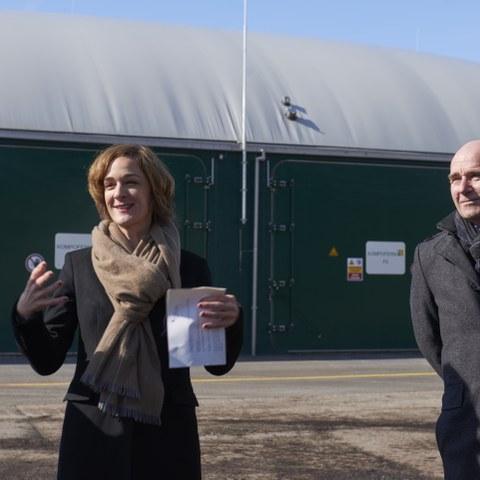 Kompostieranlage Seeland Ursula Wyss und Walter Matter Bild Nadine Strub. Vergrösserte Ansicht