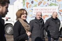 Kompostieranlage Seeland Ursula Wyss, Walter Matter, Christian Haldimann Bild Nadine Strub