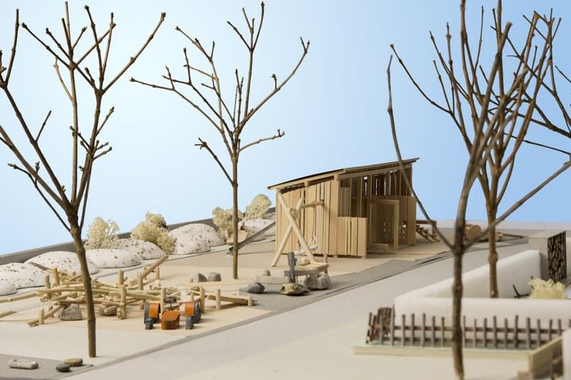 Bild des Modells Spielplatz Dählhölzli. Foto Joel Schweizer.