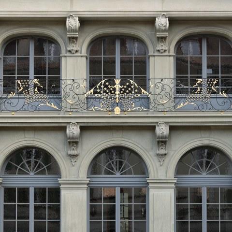 Erlacherhof Fenster 1 Bild Christine Blaser Bildaufbau. Vergrösserte Ansicht