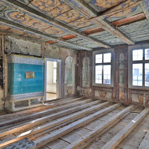 Götterzimmer ©Hebeisen +Vatter Architekten Bern. Vergrösserte Ansicht