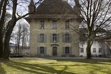 Spätgotischer Wohnturm des Schlosses Holligen Bild Alexander Gempeler 2013. Vergrösserte Ansicht