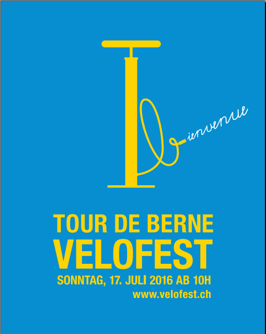 Logo Velofest Tour de France Bern.
