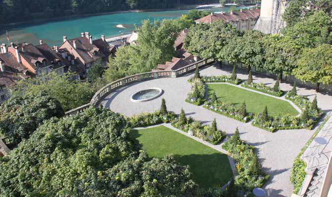 Bild Garten des Erlachershofs. Bild SKK Landschaftsarchitekten.