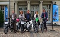 Berner Stadtregierung - Gruppenbild Aktion «bike to work»