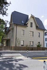 Basisstufe Wylerstrasse Aussenanasicht Seite Wylerstrasse, Bild: Silvia Hugi, Bern