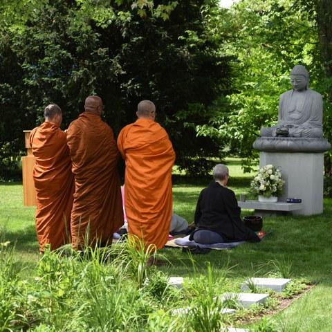 Eröffnungszeremonie Buddha Garten Bild Stefan Maurer. Vergrösserte Ansicht