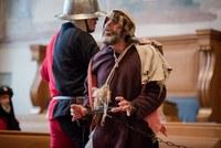 Mittelalterliche Gerichtsverhandlung im Grossratssaal (Bild: Talal Doukmak)