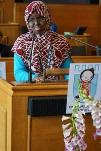 KiPa: Kowsar Hussein am Rednerpult