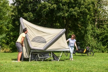 Projekt bleib hier   Velo Camping. Vergrösserte Ansicht