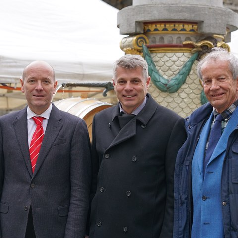 Michael Aebersold, Christoph Ammann, Alexander Hadorn (v.l.). Vergrösserte Ansicht