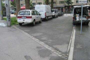 Loryplatz vor der Umgestaltung (Tiefbauamt Stadt Bern). Vergrösserte Ansicht