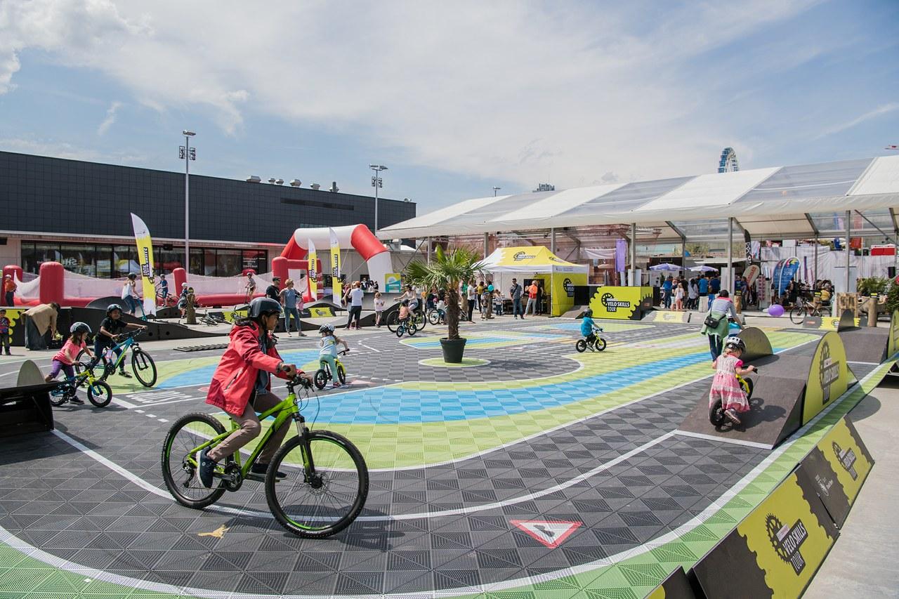 Bild Velo Skills Tour, Bild Sportamt Stadt Bern.