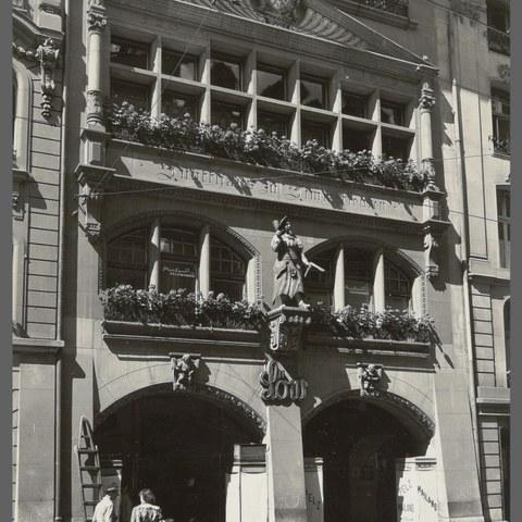 Zunfthaus zu Zimmerleuten ((Bild: Stadtarchiv Bern). Vergrösserte Ansicht