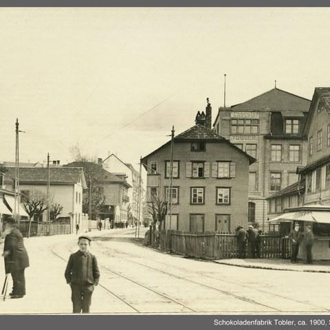 Schokoladenfabrik Tobler (Bild: Stadtarchiv Bern). Vergrösserte Ansicht