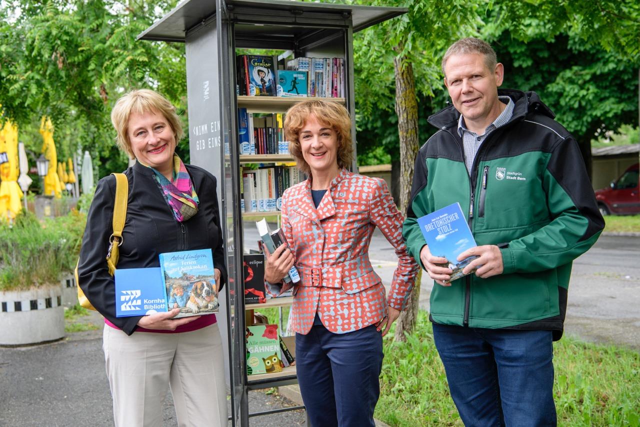 Offene Bücherschränke in vier Berner Grünanlagen — Mediencenter