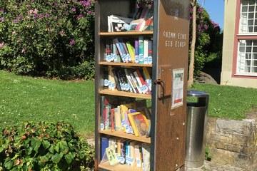 Offener Bücherschrank Elfenau. Vergrösserte Ansicht