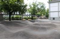 Pausenplatz mit Wheel Park Volksschule Lorraine. Bild: Hochbau Stadt Bern